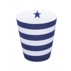 "Becher: ""Stripes Dark Blue"""