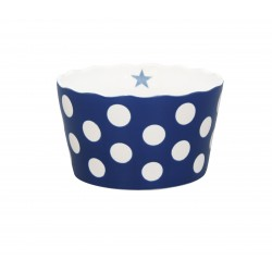 "Schüssel ""Medium Happy Bowl Dark Blue With Dots"""