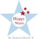 """Schüssel """"Large Happy Bowl Dark Blue With Dots"""" von Krasilnikoff"""