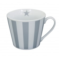 Tasse: Vertical Stripes Grey