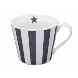 Tasse: Vertical Stripes Charcoal