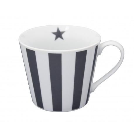 Tasse: Vertical Stripes Charcoal
