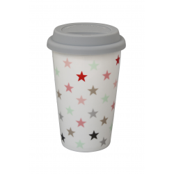 "Travelmug: ""Small Star Multicolour White"""