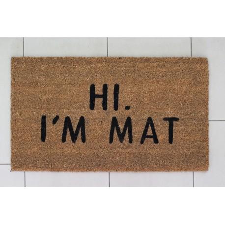 Fussmatte: Hi! I'm mat