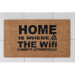Fussmatte: Home is where the wifi connects automatically
