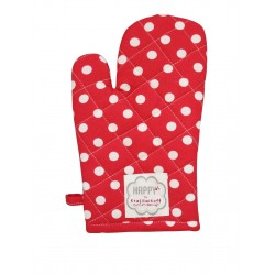 Backhandschuhe: Dots Red