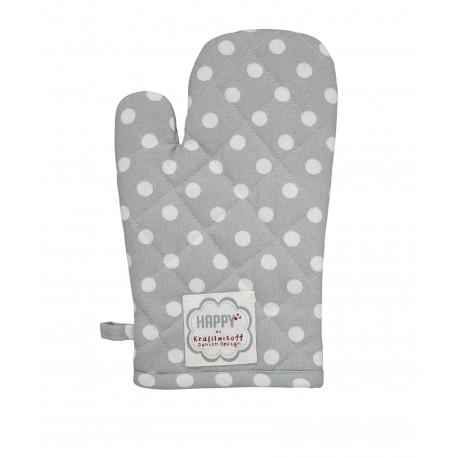 Backhandschuhe: Dots Grey