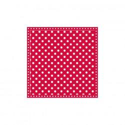 Servietten: Dots Red