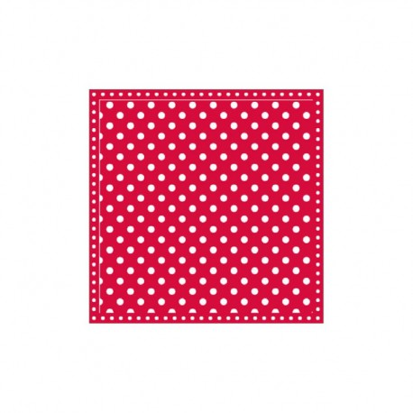 Servietten: Dots Red