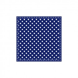 Servietten: Dots Dark Blue