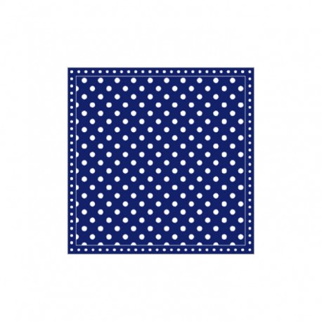 Servietten: Dots Dark Blue