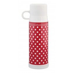Thermosflasche: Dots Red