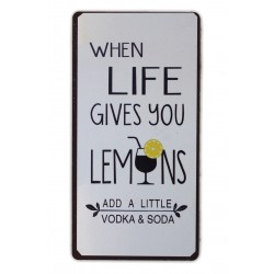 When life gives you lemons adda little vodka & soda