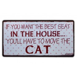 Magnet: If you want the best seat in the house... You'll have to move the cat
