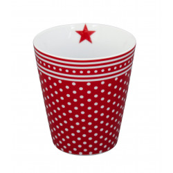 Becher: Red Micro Dots