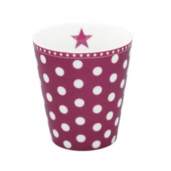 Becher: Dots Plum