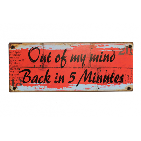 Bechschild: out of my mind - back in 5 minutes