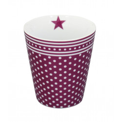Becher: Plum Micro Dots