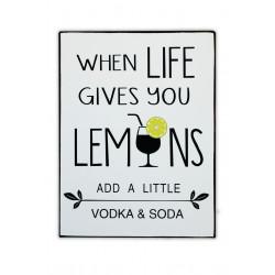 When life gives you lemons add a little Vodka & Soda