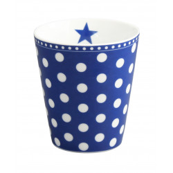 Becher: Dots Dark Blue