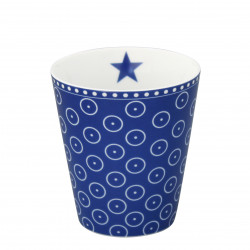 Becher: Dark Blue Micro Dots