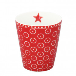 Becher: Circle Dot Red