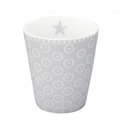 Becher: Circle Dot Grey