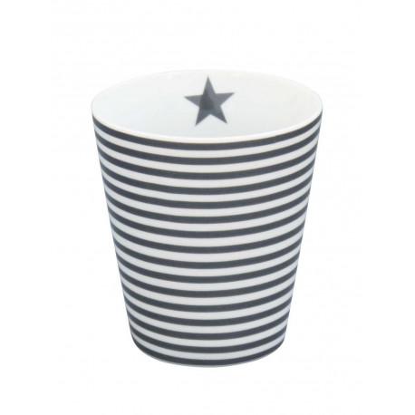 Becher: Charcoal Thin Stripes