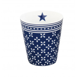 Becher: Dark Blue Daisy