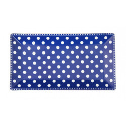 Servierplatte: Dot Dark Blue