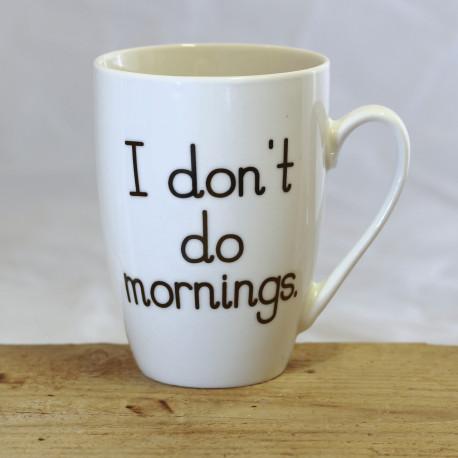 """Tasse: """"I don't do mornings"""""""