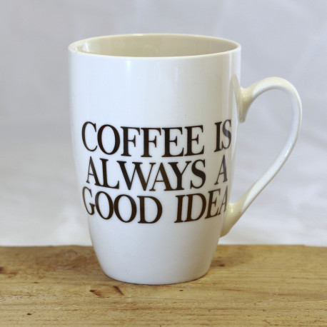 """Tasse: """"-Stay away -Proceed with caution -Refill and nobody gets HURT"""""""