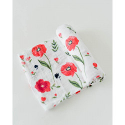 "Cotton Muslin Swaddle: ""Summer Poppy"" von Little Unicorn"