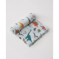 "Cotton Muslin Swaddle: ""Embroidosaurus"" von Little Unicorn"