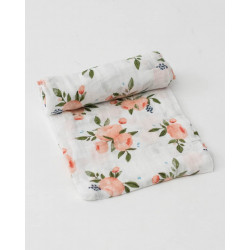 "Cotton Muslin Swaddle: ""Embroidosaurus"" Jurassic World Edition von Little Unicorn"