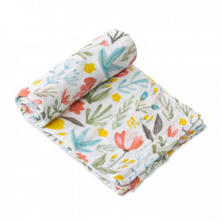 "Cotton Muslin Swaddle: ""Meadow"" von Little Unicorn"