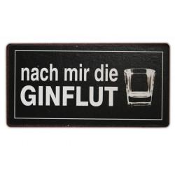 """Kühlschrankmagnet mit dem Spruch """"Nach mir die Ginflut"""""""