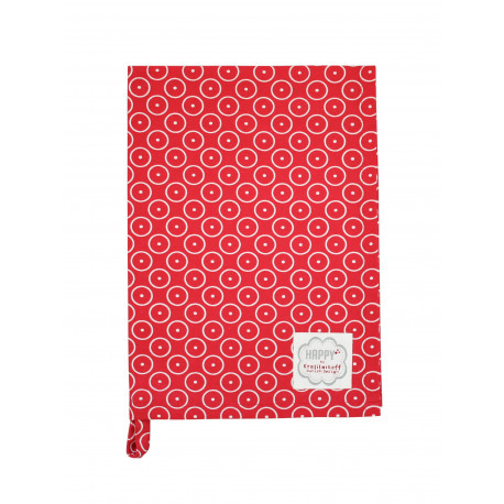 Küchentuch: Circle Dot Red