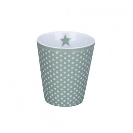 Becher: Micro Dots Dusty Green