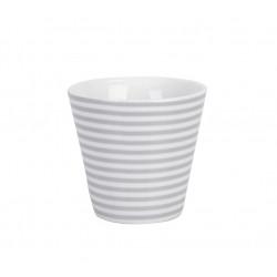 Espressobecher: Grey Thin Stripes