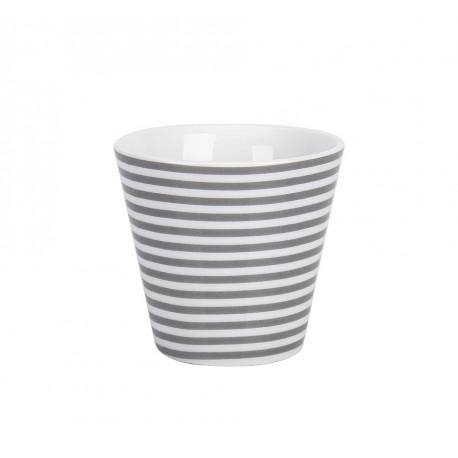 Espressobecher: Charcoal Thin Stripes