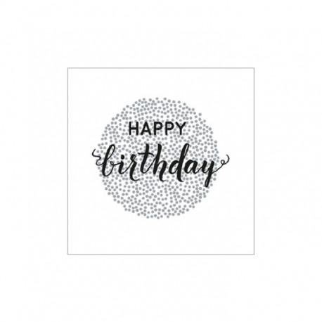 Servietten: Happy Birthday