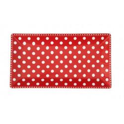 Servierplatte: Dots Red
