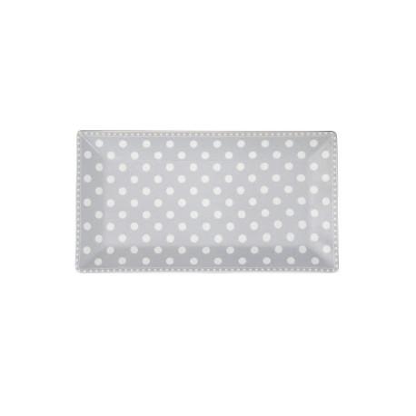 Servierplatte: Dots Grey