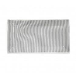 Servierplatte: Pinstripe Charcoal