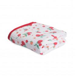 """Cotton Muslin Quilt """"Strawberry"""" von Little Unicorn"""