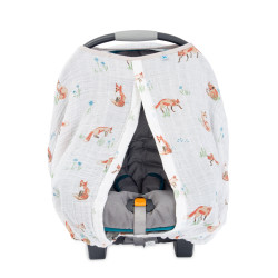 "Cotton Muslin Car Seat Canopy ""Fox"" von Little Unicorn"
