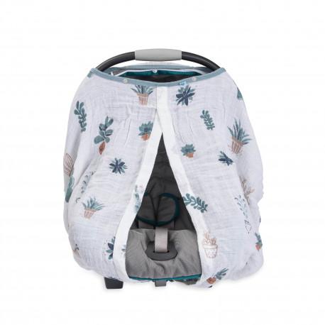 "Cotton Muslin Car Seat Canopy ""Prickle Pots"" von Little Unicorn"