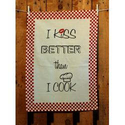Küchentuch: I kiss better than I cook