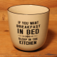 Becher: If you want breakfast in bed - sleep in the kitchen